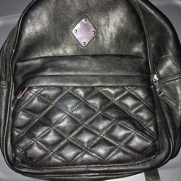 Claire's Handbags - Claire backpack black leather purse
